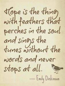 emily poem HOPE