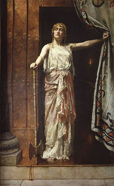 Queen-Clytemnestra-oil-painting-John-Collier-1882-Wikimedia-Commons