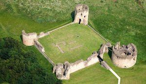 Flint Castle Aerial North Castles Historic Sites