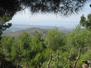 Mt Ida view to Aegean Sea