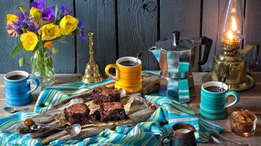 coffee and brownies