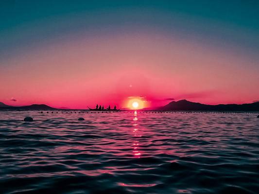 beach-philippines-red-sky-744531
